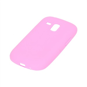 Silicone Jelly Skin Case Cover for Samsung Galaxy S III / 3 Mini I8190 - Pink
