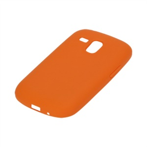 Silicone Jelly Skin Case Cover for Samsung Galaxy S III / 3 Mini I8190 - Orange