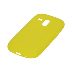 Silicone Jelly Skin Case Cover for Samsung Galaxy S III / 3 Mini I8190 - Yellow