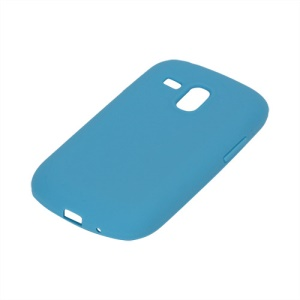 Silicone Jelly Skin Case Cover for Samsung Galaxy S III / 3 Mini I8190 - Light Blue