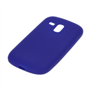 Silicone Jelly Skin Case Cover for Samsung Galaxy S III / 3 Mini I8190 - Dark Blue