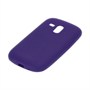 Silicone Jelly Skin Case Cover for Samsung Galaxy S III / 3 Mini I8190 - Purple