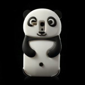 Black Adorable 3D Panda Silicone Case for Samsung Galaxy S3 Mini i8190