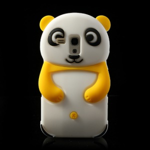 Yellow Adorable 3D Panda Silicone Case for Samsung Galaxy S3 Mini i8190
