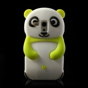 Green Adorable 3D Panda Silicone Case for Samsung Galaxy S3 Mini i8190