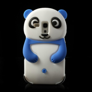 Blue Adorable 3D Panda Silicone Cover for Samsung i8190 Galaxy S3 Mini