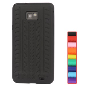 Durable Tyre Silicone Case for Samsung Galaxy S II (Samsung I9100);Red