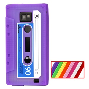 Tape Soft Silicone Case for Samsung i9100 Galaxy S2 / II