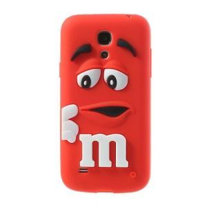 Red PIZU M&M Bean Candy Smell Silicone Case for Samsung Galaxy S IV mini I9190
