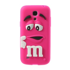 Rose PIZU M&M Bean Candy Smell Silicone Case for Samsung Galaxy S IV mini I9190 I9192 I9195