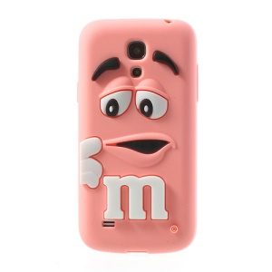 Pink PIZU M&M Bean Candy Smell Silicone Cover for Samsung Galaxy S IV mini I9190 I9192