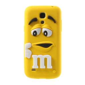 Yellow PIZU M&M Bean Candy Smell Silicone Skin for Samsung Galaxy S IV mini I9190 I9192