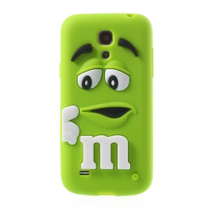 Green PIZU M&M Bean Candy Smell Silicone Cover for Samsung Galaxy S IV mini I9195 I9192