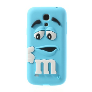 Blue PIZU M&M Bean Candy Smell Silicone Skin for Samsung Galaxy S IV mini I9190 I9192