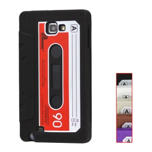 Cassette Tape Silicone Case for Samsung Galaxy Note I9220 GT-N7000 I717;Red