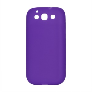 Flexible Silicone Skin Case for Samsung Galaxy S 3 / III I9300 I747 L710 T999 I535 R530 - Purple