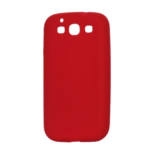 Flexible Silicone Skin Case for Samsung Galaxy S 3 / III I9300 I747 L710 T999 I535 R530 - Red