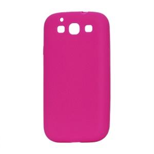 Flexible Silicone Skin Case for Samsung Galaxy S 3 / III I9300 I747 L710 T999 I535 R530 - Rose
