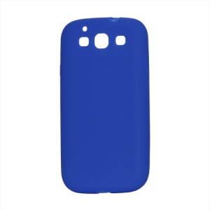 Flexible Silicone Skin Case for Samsung Galaxy S 3 / III I9300 I747 L710 T999 I535 R530 - Dark Blue