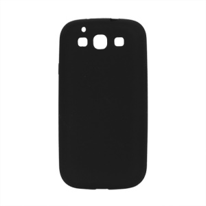 Flexible Silicone Skin Case for Samsung Galaxy S 3 / III I9300 I747 L710 T999 I535 R530 - Black