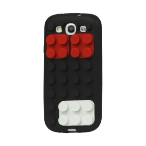 Building Block Silicone Case Cover for Samsung Galaxy S 3 / III I9300 I747 L710 T999 I535 R530 - Black