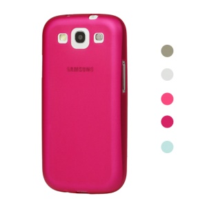 Premium Frosted Silicone Case for Samsung Galaxy S 3 / III I9300 I747 L710 T999 I535 R530;Red
