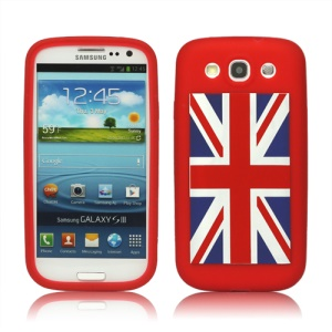 Union Jack Flag Silicone Case for Samsung Galaxy S 3 / III I9300 I747 L710 T999 I535 R530 - Red