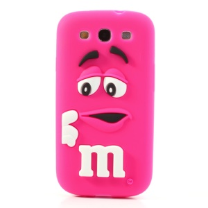 PIZU M&M Candy Bean Fragrance Silicone Case for Samsung Galaxy S iii S3 I9300 - Rose