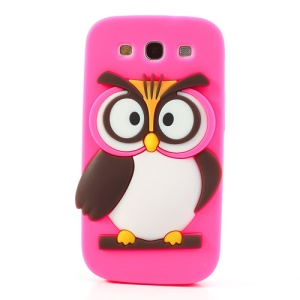 Rose for Samsung I9300 Galaxy S III Novel 3D Owl Silicone Shell Cover
