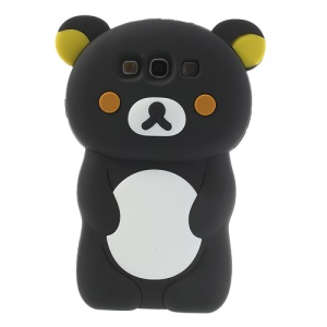 Black Cute 3D Rilakkuma Bear Silicone Shell for Samsung Galaxy S3 I9300 R530