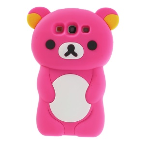 Rose Cute 3D Rilakkuma Bear Silicone Case for Samsung Galaxy S3 I9300 T999