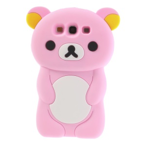 Pink Cute 3D Rilakkuma Bear Silicone Case for Samsung Galaxy S3 I9300 T999