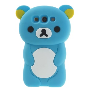 Light Blue for Samsung Galaxy S3 I9300 I747 Cute 3D Rilakkuma Bear Silicone Case
