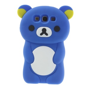 Dark Blue for Samsung Galaxy S3 I9300 I747 Cute 3D Rilakkuma Bear Silicone Case