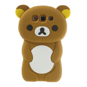 Brown for Samsung Galaxy S3 I9300 I747 Cute 3D Rilakkuma Bear Silicone Case