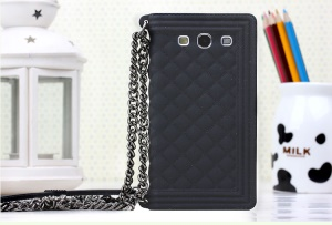 Black Grid Pattern Silicone Case Cover for Samsung I9300 Galaxy S III