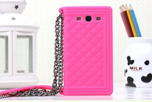 Rose Grid Pattern Silicone Gel Case Shell for Samsung I9300 Galaxy S III
