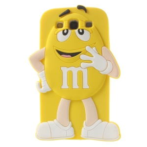 Happy M&Ms Chocolate Rainbow Bean for Samsung Galaxy S3 I9300 Soft Silicone Case - Yellow