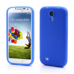 Flexible Silicone Skin Protector Case for Samsung Galaxy S 4 IV i9500 i9505 - Blue