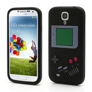 Nintendo Game Boy Silicone Skin Shell Case for Samsung Galaxy S 4 IV i9500 i9505 - Black