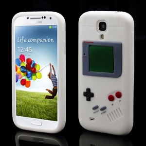 Nintendo Game Boy Silicone Skin Shell Case for Samsung Galaxy S 4 IV i9500 i9505 - White
