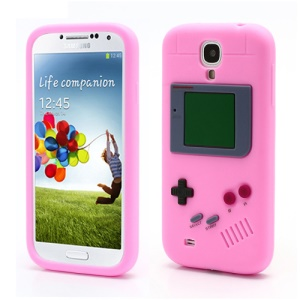 Nintendo Game Boy Silicone Skin Shell Case for Samsung Galaxy S IV 4 i9500 i9505 - Pink
