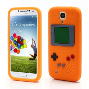 Nintendo Game Boy Silicone Skin Shell Case for Samsung Galaxy S IV 4 i9500 i9505 - Orange