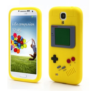 Nintendo Game Boy Silicone Skin Shell Case for Samsung Galaxy S IV 4 i9500 i9505 - Yellow