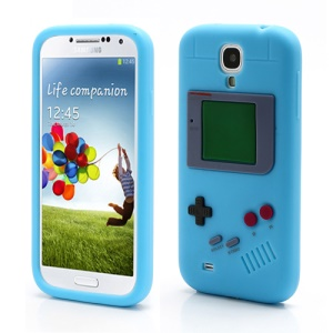 Nintendo Game Boy Silicone Skin Shell Case for Samsung Galaxy S IV 4 i9500 i9505 - Baby Blue