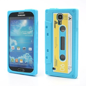 Retro Cassette Tape Silicone Case for Samsung Galaxy S IV S4 i9500 i9505 - Baby Blue