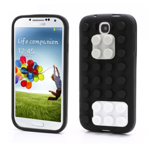 Building Block Silicone Case Cover for Samsung Galaxy S IV 4 i9500 i9505 - Black