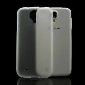 Ultra-thin Frosted Silicone Case Shell for Samsung Galaxy S IV 4 i9500 i9505 - White