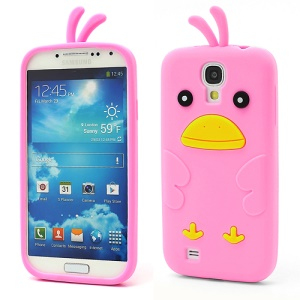Cute Cartoon Chicken Silicone Case Cover for Samsung Galaxy S IV 4 i9500 i9505 - Pink