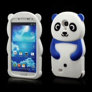 Likable Panda Silicone Cover Case for Samsung Galaxy S IV S 4 i9500 i9502 i9505 - Dark Blue